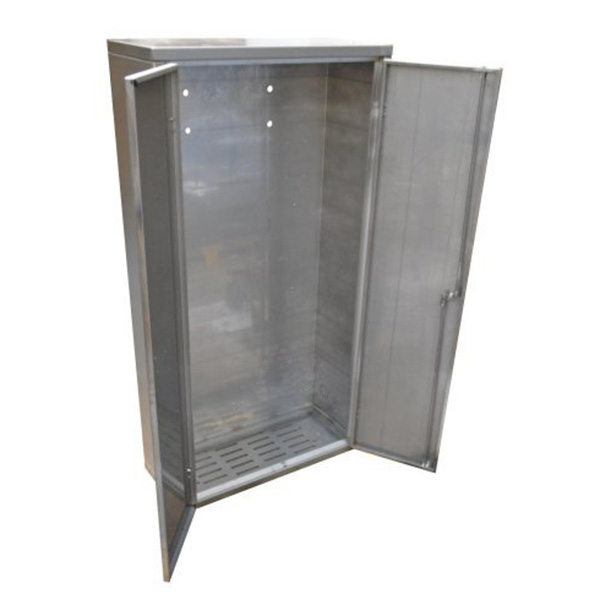 Ref: 0015 - brush finish stainless floor cabinets