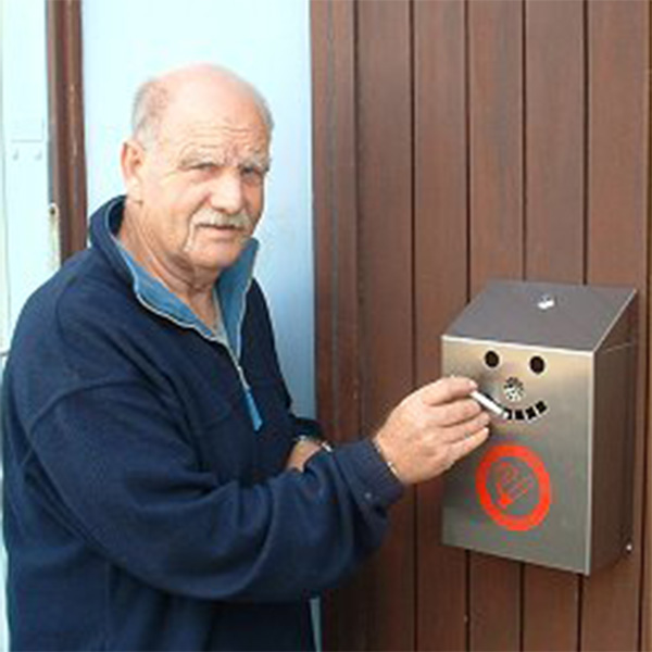 Ref: 0021 - cigarette disposal bin