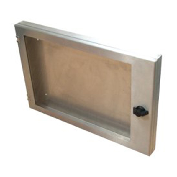 Ref: 0051 - slim stainless steel brush finish poster enclosures