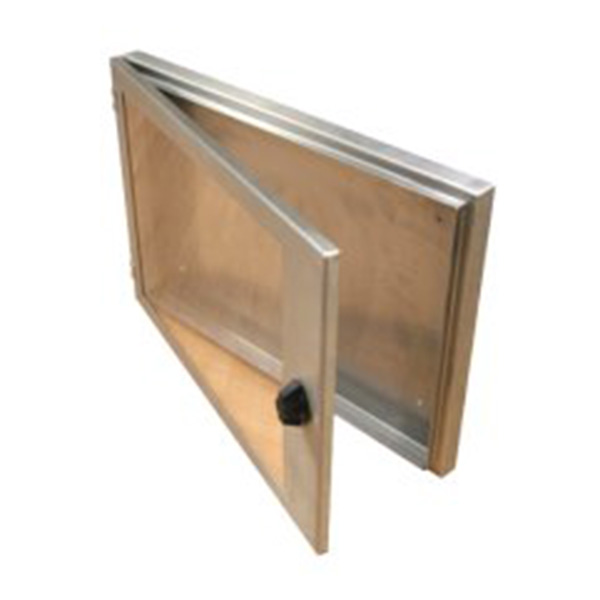 Ref: 0052 - slim stainless steel poster enclosures