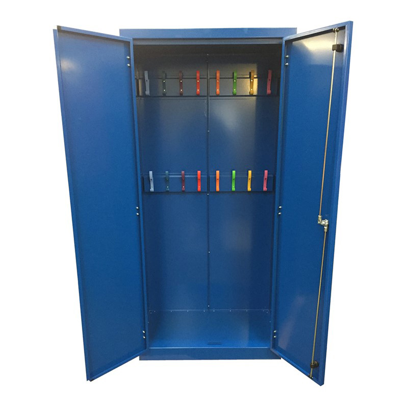 Ref: 0065 - Coats locker with coloured hooks (interior)