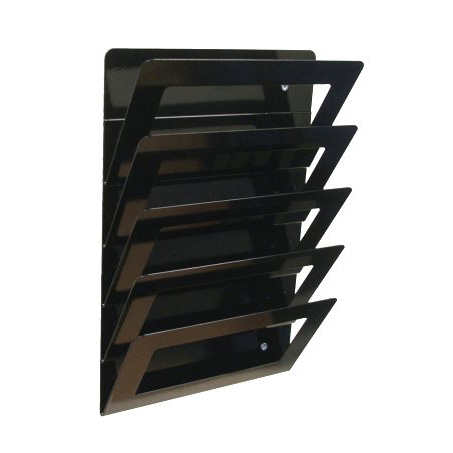 5 tier wall mounted magazine rack